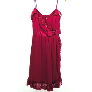Betsey Johnson Dress Evening Lace 100% Silk Dress